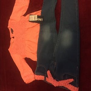 Little girls Sz 2t or 3t Limited outfit NWT